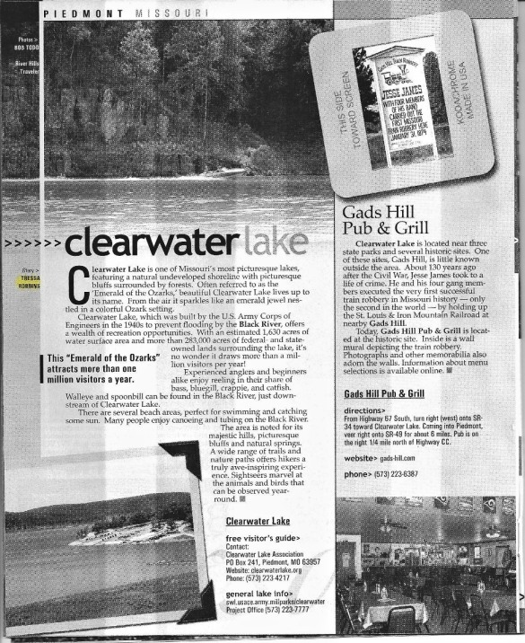 Clearwater Lake article by Tressa Robbins